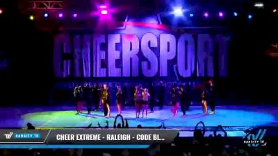 Cheer Extreme - Raleigh - Code Black [2021 L6 International Open Coed - NT Day 2] 2021 CHEERSPORT National Cheerleading Championship