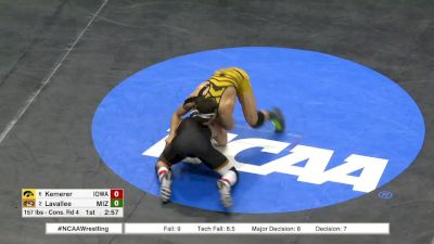 157 lbs, Blood Round, Michael Kemerer, Iowa vs Joey LaVallee, Mizz.mp4