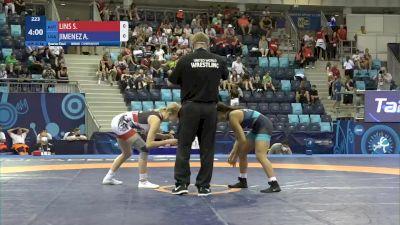 49 kg 1/4 Final - Sarah Carina Lins, Austria vs Audrey Rae Jimenez, United States
