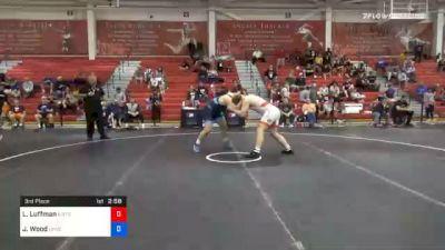125 kg 3rd Place - Luke Luffman, Illinois Regional Training Center/Illini WC vs Jordan Wood, Lehigh Valley Wrestling Club