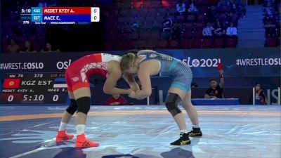 76 kg 1/2 Final - Aiperi Medet Kyzy, Kyrgyzstan vs Epp Maee, Estonia