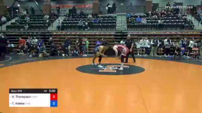 155 lbs Quarterfinal - Kendra Thompson, Campbellsville vs Tiyahna Askew, Missouri Baptist