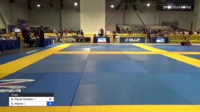 Ana Paula Cardos vs Kendall Marie 2021 American National IBJJF Jiu-Jitsu Championship