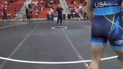 97 kg Quarterfinal - Jonathan Aiello, Cavalier Wrestling Club vs Gavin Hoffman, Ohio Regional Training Center