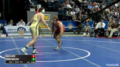 197 5th Place - John Bolich, Lehigh vs Zach Nye, Virginia