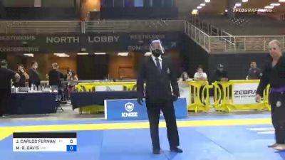 JOÃO CARLOS FERNANDES DE FREITAS vs MICHAEL B. DAVIS 2020 World Master IBJJF Jiu-Jitsu Championship