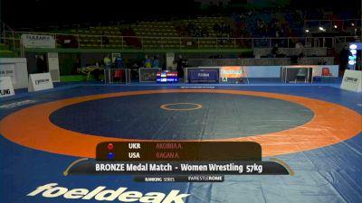57kg Bronze: Alli Ragan, United States vs Alina Akobiia, Ukraine