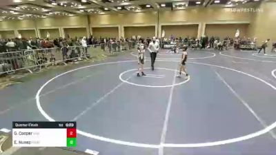 61 lbs Quarterfinal - Gus Cooper, San Marcos SB vs Eric Nunez, Pounders WC