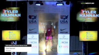 182lb Finals: Tyler Hannah, Wisconsin vs Kyle Haas, Kansas