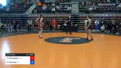 155 lbs Semifinal - Kendra Thompson, Campbellsville vs Sienna Ramirez, Southern Oregon