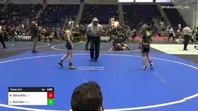 70 lbs Consi Of 4 - Nathan Reynolds, California Grapplers vs Lazarus McEwen, Mat Demon WC