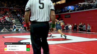 174 lbs Prelims - Mikey Labriola, Nebraska vs Max Maylor, Michigan