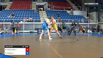 285 lbs Cons 32 #2 - Will McCracken, Virginia vs Kevin Hudson, Delaware