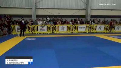 JOSHUA CISNEROS vs DIEGO OLIVEIRA BATISTA 2021 Pan IBJJF Jiu-Jitsu No-Gi Championship