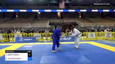 GERALDO TEIXEIRA GOMES vs TRAVIS SCOTT DAVIS 2020 World Master IBJJF Jiu-Jitsu Championship