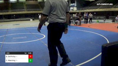 220 lbs 5th Place - Bryan DePhillip, Fc vs Zachary Manning, Nr