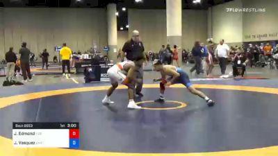65 kg Quarterfinal - Joshua Edmond, Tiger Style Wrestling Club vs Jesse Vasquez, Unattached