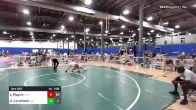 82 lbs Rr Rnd 3 - Landon Higgins, Missouri Outlaws vs Cale Richardson, LWA Elite