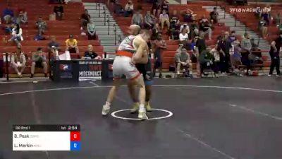 72 kg Prelims - Benjamin Peak, Sunkist Kids Wrestling Club vs Lenny Merkin, New York Athletic Club