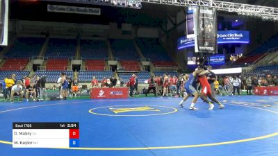 195 lbs Cons Semis - Denzel Mabry, California vs Matthew Kaylor, North Dakota