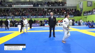 LARISSA CAMPOS CARVALHO vs BIANCA BARBOSA BASILIO 2020 European Jiu-Jitsu IBJJF Championship