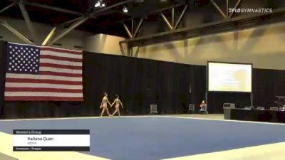 Kailana Quan - Women's Group, WOGA - 2021 USA Gymnastics Championships