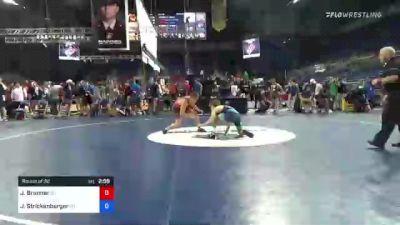 120 lbs Round Of 32 - Jared Brunner, New Jersey vs Jett Strickenberger, Colorado
