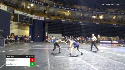 133 lbs Consolation - Codi Russell, Appalachian State vs Jacob Allen, Navy