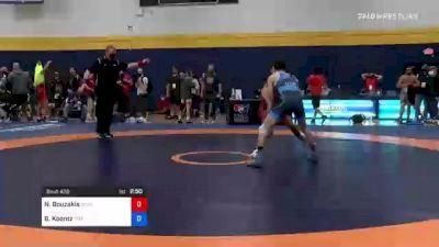 60 kg Round Of 16 - Nic Bouzakis, XCalibur Athletics vs Brady Koontz, Titan Mercury Wrestling Club (TMWC)