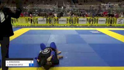 LORIEN ZONKOWSKI vs JAYLEEN VANESSA ORTIZ 2021 Pan Kids Jiu-Jitsu IBJJF Championship