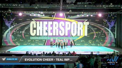 Evolution Cheer - Teal Impact [2020 Junior 4 D2 Day 2] 2020 CHEERSPORT National Cheerleading Championship