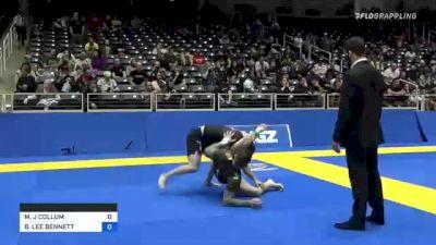 MATTHEW J COLLUM vs BRANDON LEE BENNETT 2021 World IBJJF Jiu-Jitsu No-Gi Championship