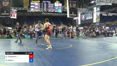 285 lbs Cons 16 #2 - Austin Chapman, West Virginia vs Nate Miller, Pennsylvania