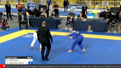 Ana Carolina Vieira vs Elisabeth Clay, Medium-heavyweight Final, 2021 IBJJF Pan Championship