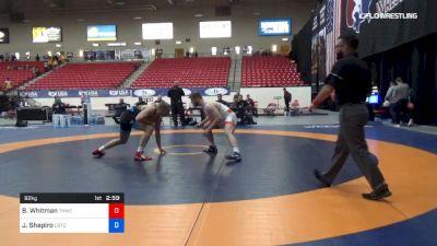 92 kg 3rd Place - Brandon Whitman, Tar Heel Wrestling Club vs Joel Shapiro, Cyclone RTC