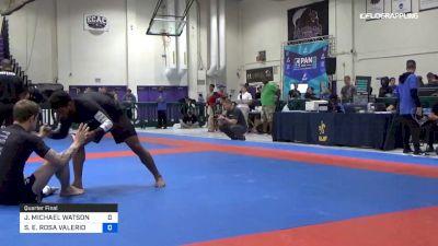 JAKE MICHAEL WATSON vs STANLEY E. ROSA VALERIO 2019 Pan IBJJF Jiu-Jitsu No-Gi Championship