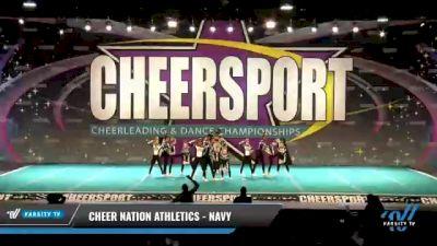 Cheer Nation Athletics - Navy [2021 L1 Junior - D2 - Small - B Day 2] 2021 CHEERSPORT National Cheerleading Championship