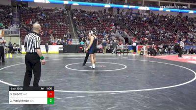 220 lbs 5th Place - Stephen Schott, Nazareth vs Cole Weightman, Belle Vernon