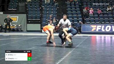 157 lbs Consolation - Wyatt Sheets, Oklahoma State vs Hunter Willits, Oregon St.