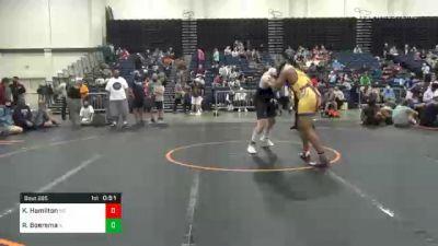 285 lbs 3rd Place - Kyonte Hamilton, MD vs Ryan Boersma, IL