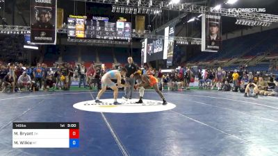 145 lbs Cons 8 #1 - Manzona Bryant, Ohio vs Martin Wilkie, Montana