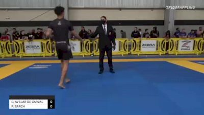 EDUARDO AVELAR DE CARVALHO vs PAUL BARCH 2021 Pan IBJJF Jiu-Jitsu No-Gi Championship