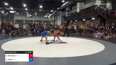 57 kg Quarterfinal - Andre Gonzales, Poway High School Wrestling vs Drake Ayala, Sebolt Wrestling Academy