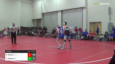 132 lbs Rr Rnd 3 - Sam Elliott, Kansas Railroaders (M) vs Drake Buchanan, Indiana Blue (M)