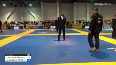 LOUIS EVERSON MEANS vs AARON BENJAMIN STEED 2021 American National IBJJF Jiu-Jitsu Championship