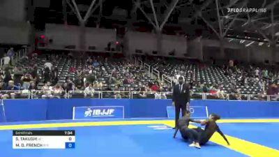 SARAH TAKUSHI vs MARIANGEL D. FRENCH 2021 World IBJJF Jiu-Jitsu No-Gi Championship