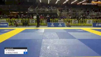 GABRIELLE MCCOMB LIMA vs ALEXA NICOLE YANES 2021 Pan Jiu-Jitsu IBJJF Championship