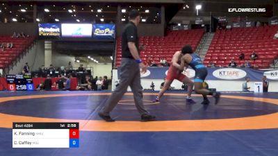 87 kg Round 2 - Keaton Fanning, NMU/OTS vs Cameron Caffey, Michigan State