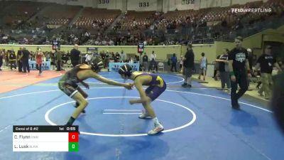 112 lbs Consolation - Connor Flynn, Vian Wrestling Club vs Lawson Lusk, Blackwell Wrestling Club