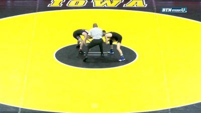 133 lbs m, Colin Valdiviez, Northwestern vs Paul Glynn, Iowa